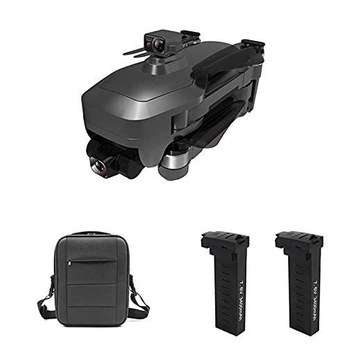 JANEFLY Drones GPS con cámara Gimbal 4K de 3 Ejes para Adultos, RC Drone Quadcopter 5G WiFi FPV, Motor sin escobillas, evitación de obstáculos, 56 Minutos de Tiempo de Vuelo