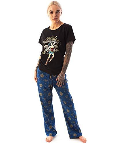 Pijamas para Mujer de Wonder Woman Ropa de Dormir de Pierna Larga o Corta