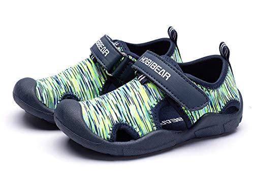 Sandalias para Niños Niñas Zapatos de Playa Respirable Verano Sandalias Punta Cerrada Zapatillas de Agua Playa Piscina