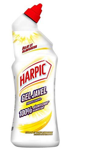 HARPIC – Lote de 3 geles para WC con lejía y blanco limón, pomelo – 750 ml