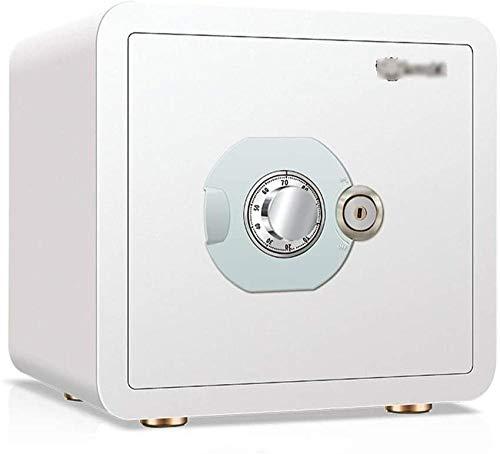 REWD Safes Security Cash Box - Candado de combinación de acero con llave independiente o caja fuerte para armarios de oficina y hogar (tamaño: 38 x 35 x 30)