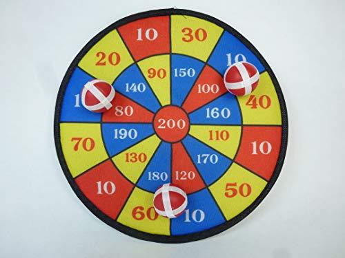 wuselwelt 283998, Sicherheits Kinder Dart Spiel, Dartscheibe 28 cm, mit 3 Klettbällen, Kinderdart, Sicherheitsdartspiel, Wurfscheibe