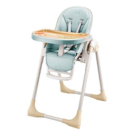 Baby hoge stoel, peuter kinderstoel met verwijderbare verstelbare lade, rugleuning, 8 hoogtes verstelbaar, vijfpunts gordel, goud
