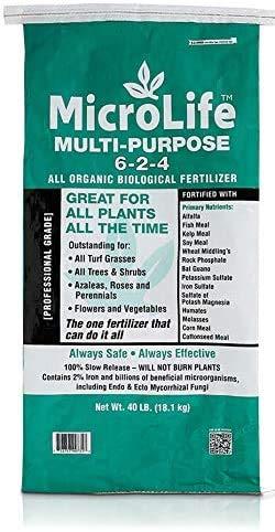 MicroLife Multi-Purpose (6-2-4) Professional Grade Granular Organic Fertilizer for All Plants All the Time, 40 LBS