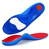 Plantar Fasciitis Orthotics High Arch Support Insoles,Heel Pain Relief Gel Insoles for Women Men,Running Sports Inserts Foot Pain Relieve for Fallen Arch,Metatarsalgia,Flat Feet,Overpronation