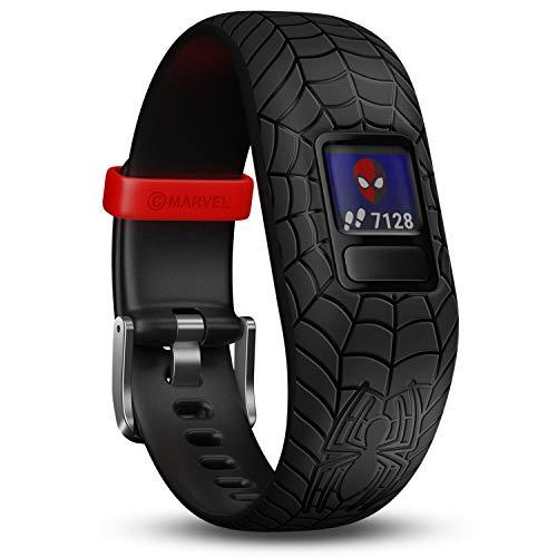 Garmin vívofit jr. 2 digitale, wasserdichte Action Watch im Marvel Spider-Man Design für Kinder ab 4 Jahren, mit spannender Abenteuer-App, Schrittzähler, schwarz, Batterielaufzeit bis zu 1 Jahr