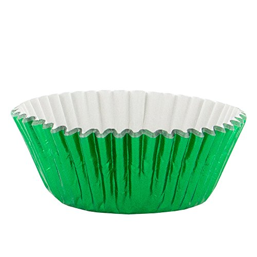 PME - Caissettes à Cupcakes Métalliques Vertes, Dimensions Standard, Lot de 30