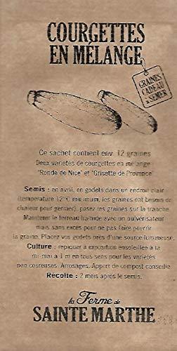 Courgette en Mélange : Ronde de Nice, Grisette de Provence - environ 12 graines - SEM03 - Opportunité - Quantité Limité
