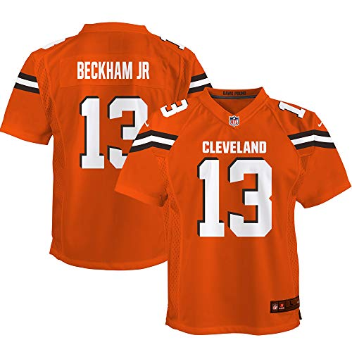 Nike Odell Beckham Jr Cleveland Browns Youth Game Jersey – Orange (Youth Medium)