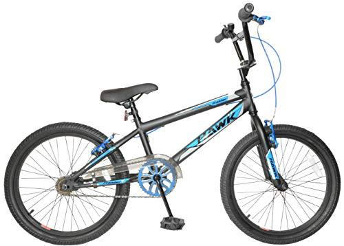 "Hawk Raider 20"" Wheel Kids Boys BMX Bike Single Speed Bicycle Black Blue Age Age 7+"