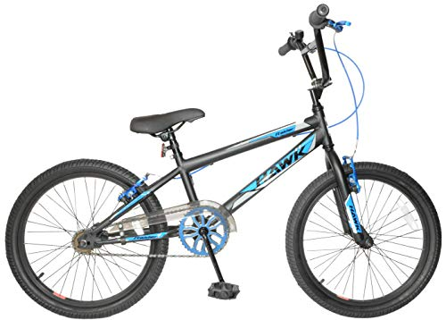 Hawk Raider 20' Wheel Kids Boys BMX Bike Single Speed Bicycle Black Blue Age Age 7+