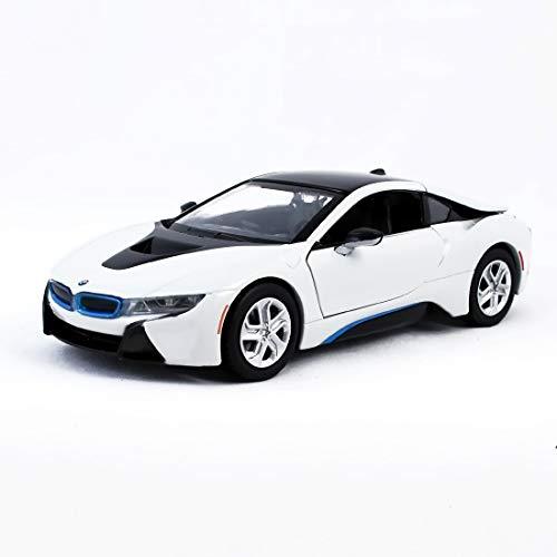 Motormax Miniatur 1:24 Modellauto BMW i8 Coupe metallic blau