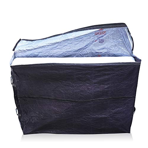"Mattress Bags for Moving – Reusable Mattress Storage Bag Queen, King or Twin Size with Carry Handles – Extra Thick, Heavy Duty Protector, Plastic Mattress Cover for Moving 82""x79"" (Twin)"