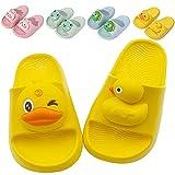 Toddler Cute 3D Animal Design Lightweight Bath Shower Garden Slippers Kids Soft Slide Sandals Non-Slip Summer Beach Pool Water Shoes Boys Girls Pink Blue Yellow Green(Yellow,170)