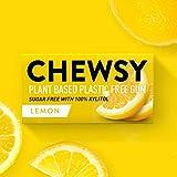 Chewsy Goma De Mascar Limón| Chicles Naturales Sin Plástico | Chicles Sin Azucar Y Aspartamo | 100% Xilitol, Protege Los Dientes | Vegano 15g (Pack De 12, 120pcs.)