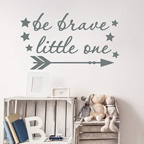 Be Brave Little One Wall Decal, Girl Room Decor, Arrow Decal, Be Brave Sticker, Nursery Decor Girl, Arrow Vinyl Sticker, Star Sticker 12 Inch In Width