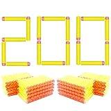 BOROLA 200pcs 7.2cm Refill Bullet Darts Compatible for Nerf Elite Series Blasters Kid Toy Gun - Yellow
