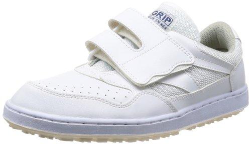 [ミドリ安全] 作業靴 耐滑 マジックタイプ スニーカー ハイグリップ H115 P メンズ ホワイト 27.0(27cm)