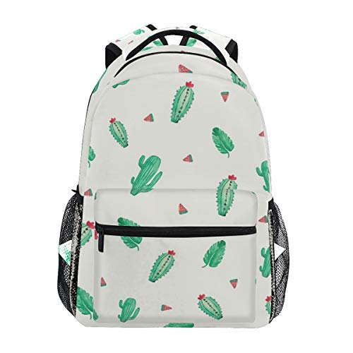 Netter Rucksack Kaktus Wassermelone Pflanze Casual Daypack Rucksack Schultaschen für Schüler Mädchen Jungen