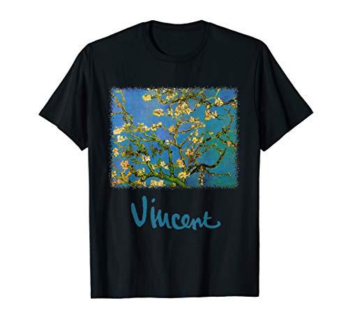 Blühender Mandelbaum (Mandelblüten) durch Vincent van Gogh T-Shirt