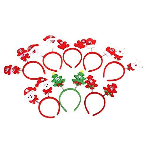 Amosfun 8 stks Kerstmis Hoofdbanden Grappige Partij Hoofdbanden voor Kostuum Carnaval Kerst Party Favor Speelgoed Gift Decoraties 10pcs Afbeelding 1
