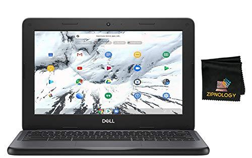 Dell Chromebook 11 3100 - 11.6' Laptop - Intel Celeron N4020 - 4GB RAM - 16GB eMMC - Chrome OS - Intel HD Graphics - English (US) Keyboard - Bluetooth + Zipnology Screen Cleaning Cloth Bundle - New