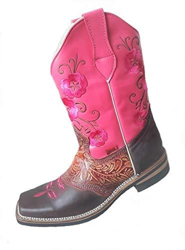 JOS Cowboystiefel mit Stickerei pink Größe 40 (Pink, 42)
