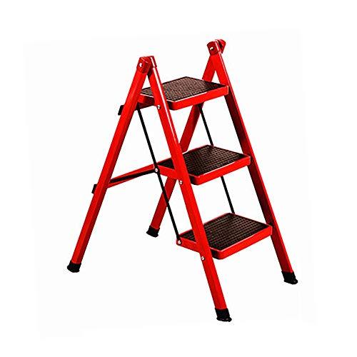 Tabouret de m/énage GY Escabeau P/édale antid/érapante Table /à Outils portative Escalier Multifonctionnel /Échelle en Aluminium Accoudoir Double Pliable Escabeau
