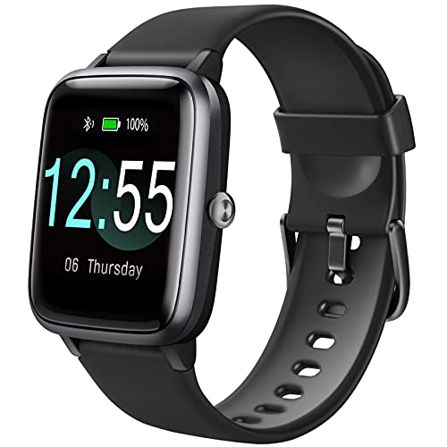 Smart Watch, Activity Tracker with 1.3 inch Touch Screen,Fitness Tracker with Heart Rate Monitor ,IP68 Waterproof Fitness Tracker Compatible with iPhone and Android Phones for Women Men