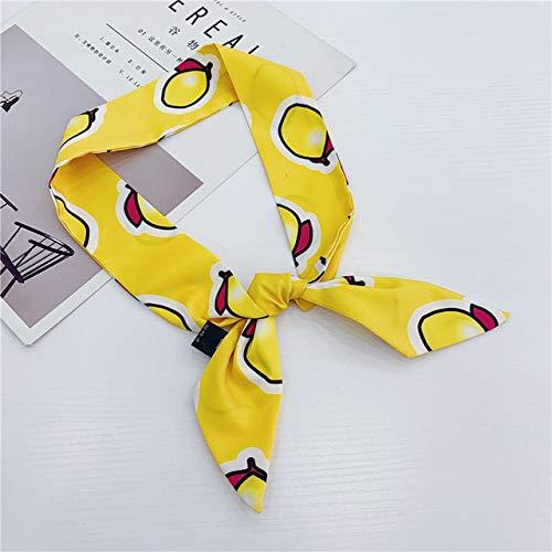 XSHOMW Fashion Skinny Bag Scarf for Hair Women Headband Print Silk Satin Neck Scarfs Female Long Wrist Ribbons Hair Scarves for Ladies 5x90cm 2504