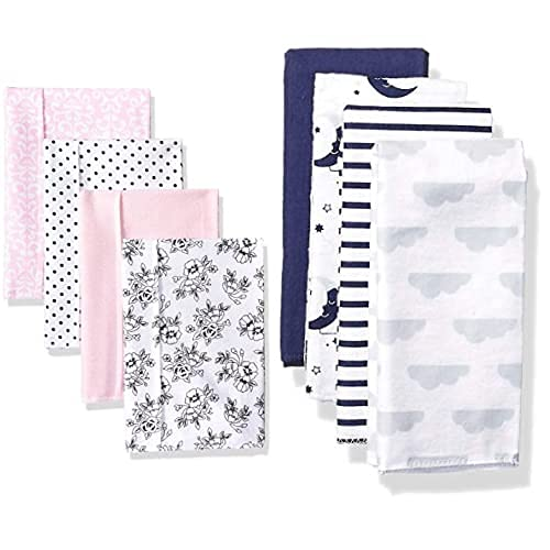 Hudson Baby Girl Max Denver Mall 65% OFF Cotton Flannel 8-Pack Burp Moon Cloth Toile