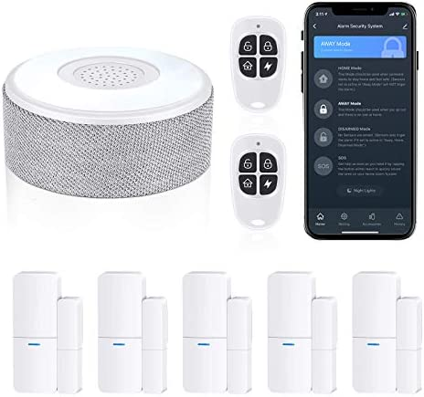 WiFi Door Alarm System Wireless DIY Smart Home Security System with Phone APP Alert 8 Pieces product image