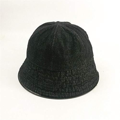 Cowboy Fischer hoed mannen en vrouwen zomer literaire schaduw stof hoed zonwering hoed M (56-58cm) zwart