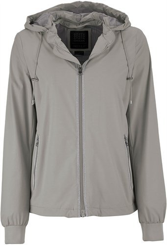 Geox Woman Jacket Chaqueta, Gris (Sesame Grey F1400), 42 para