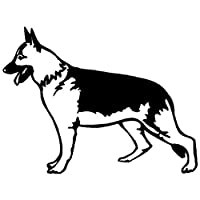 花を張る ドイツXie Pud犬面白漫画車の装飾アクセサリーパーソナリティステッカーステッカー (Color : Black)