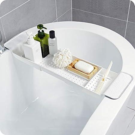 Bathroom Bathtub Shower Caddy Holder Bath Rack  Shelf Organizer Accessory