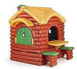 FEBER Famosa 800002884 - Woodland Cottage - Spielhaus wie eine Holzhütte, für Kinder von 2 bis 5...
