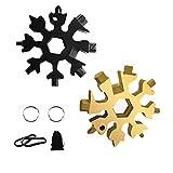 Strumento multiuso Snowflake 18 in 1, multiutensile portachiavi Macllar, mini strumenti pratici per esterni, viaggi, campeggio, bicicletta, manutenzione e riparazione di veicoli, regalo da uomo