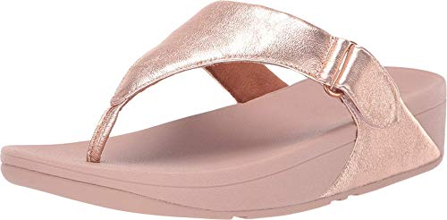 FitFlop Sarna Toe Thong Sandal Rose Gold 8 M (B)
