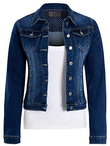 SS7 Damen ausgestattet Jeansjacke Stretch Indigo Blue Jean Jacken