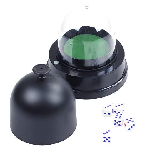 SODIAL Automatic Dice Roller Cup Batteriebetriebenes Pub Bar Partei Spiel Mit 5 WüRfeln Schwarz