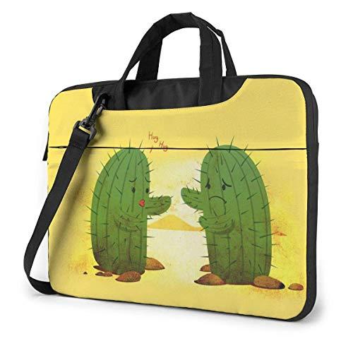 15.6 inch Laptop Shoulder Briefcase Messenger Cactus Art Tablet Bussiness Carrying Handbag Case Sleeve