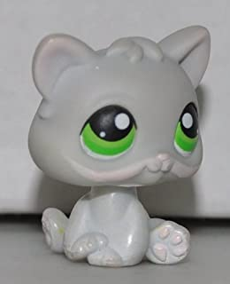 Kitten #88 (Grey, Green Eyes) Littlest Pet Shop (Retired) Collector Toy - LPS Collectible Replacement Single Figure - Loose (OOP Out of Package & Print)