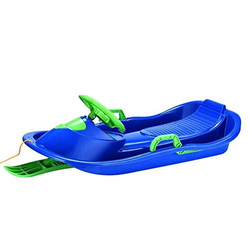 FANPING Verdickte Kinderski - Snowboard Schlitten, Lenkrad Skis, Sandalen, Erwachsene mit Bremsen (Color : Blue)