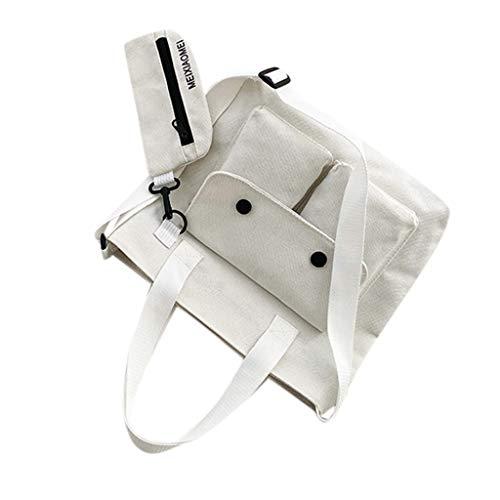 squarex  Fashion Damen Einfarbig Großraumtasche Canvas Umhängetasche Reisetasche Handtasche Umhängetasche Großraumtasche Beuteltasche