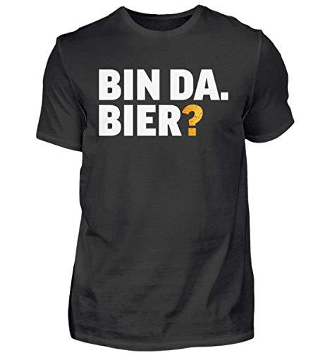 Lustiges Bier Tshirt für Männer, Geschenk für alle Bierliebhaber zum Geburtstag, Alkohol, Saufen, JGA, Junggesellenabschied - Herren Shirt -3XL-Schwarz