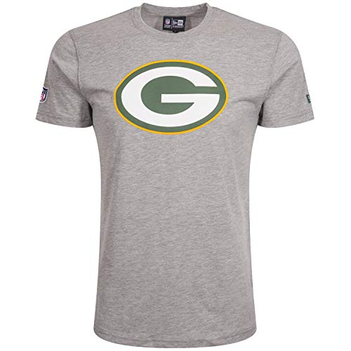 New Era Green Bay Packers NFL Teamlogo Heather Grey - XXL