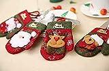 CDKJ - Portacubiertos servilletas, cuchillos, bolso, tenedor, cuchara, muñeco de nieve, disfraz de Papá Noel, para decoración de cocina, mesa despertador navideño