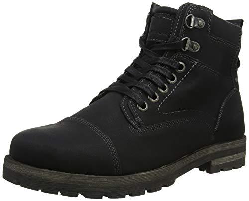 TOM TAILOR Herren 585100130 Klassische Stiefel, Schwarz (Black 00001), 44 EU