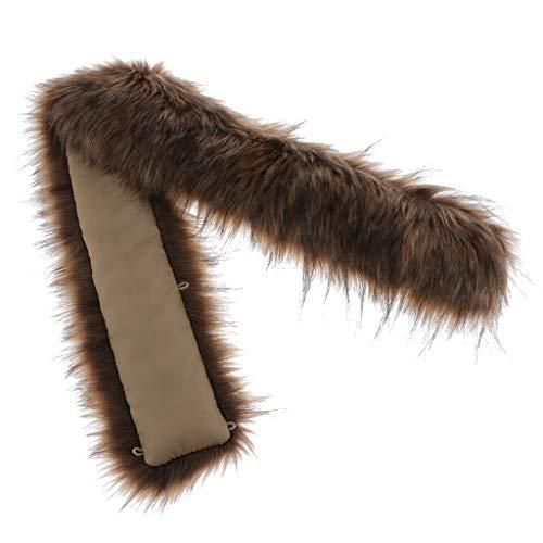 F Fityle Cuello de Imitación Moda Suéter Grande Invierno Cálido Ropa Larga Abrigo Decoraciones